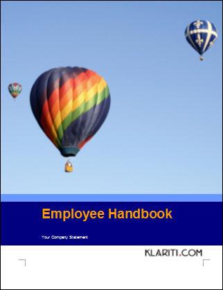 microsoft word handbook template
